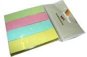 Закладки с клеевым краем, 18, 75х75 мм, бумажные, 4 блока по 100л., 4-х цветные