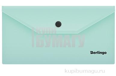 """Папка-конверт на кнопке Berlingo """"Instinct"""", C6, 180мкм, мятный"""