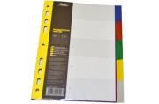 Разделитель листов А5 05цв пластик ХАТБЕР 00503 [4606782245293] (319957)
