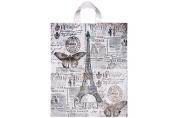 """Пакет """"Парижский день"""", полиэтиленовый с петлевой ручкой, 38 х 42 см, 40 мкм  3312695"""