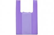 """Пакет """"Фиолетовый"""", полиэтиленовый, майка, 25 х 45 см, 10 мкм"""