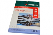 Фотобумага LOMOND д/струйной печати А4, 200г/м, 50л., односторонняя, глянцевая (0102020)