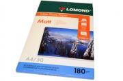 Фотобумага LOMOND д/струйной печати А4, 180г/м, 50л., односторонняя, матовая (0102014)