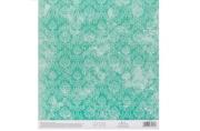 Бумага для скрапбукинга с клеевым слоем «Бирюзовый ампир», 20 ? 21, 5 см, 250 г/м