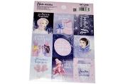 Бумажные наклейки с раскраской на обороте «Снежные истории», 11х15, 5 см