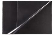 Коврик-подкладка настольный для письма 380х590 мм, с прозрачным карманом, ATTACHE черный