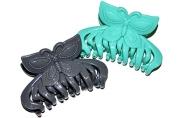 "Краб для волос ""Яркий"" 7 см, бабочка, микс"