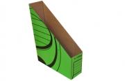 Накопитель вертикальный, гофрокартон, 75 мм, зеленый