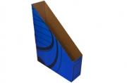 Накопитель вертикальный, гофрокартон, 75 мм, синий