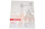Тетрадь предметная Английский язык «Узоры», 36 листов в клетку,  со справочным материалом, белизна