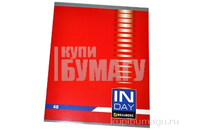 Тетрадь А5 48л. BRAUBERG клетка, обложка картон, ИНДЕЙ, 400518