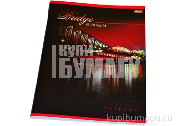 Тетрадь 80л. HATBER, кл., выборочный лак, Bridge (Мосты), 80Т5вмС1 (T70512)