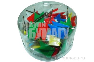 Кнопки силовые 1026 (486А) с флажком, цветные, пластик, 60шт J. Otten /12 /0 /360