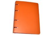 Тетрадь на кольцах 80л. BRAUBERG А5 160*205мм, клетка, обложка пластик, Оранжевый, 403253