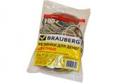 Резинки для денег BRAUBERG цветные, натаральный каучук 100г