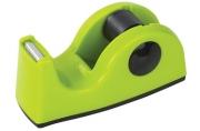 Диспенсер для клейкой ленты BRAUBERG настольный, утяжеленный, средний, салатовый, 11, 8х5х5 см, 44014