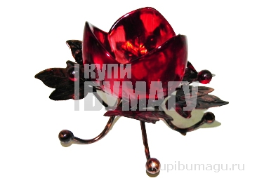 """Подсвечник 11952 """"Тюльпан"""" на 1 свечу, металл+стекло /1 /0/60"""