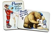 Деревянный магнит «Любимая Россия», МИКС, 4 вида