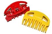 """Краб для волос """"Глянец"""" зубчики 6, 5 см микс  4730585"""