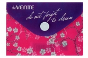 Папка-конверт на кнопке А7, deVENTE, горизонтальная, 105 х 74 мм, 150 мкм, Do not forget to dream