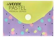 Папка-конверт на кнопке А7, deVENTE, горизонтальная, 105 х 74 мм, 150 мкм, Pastel