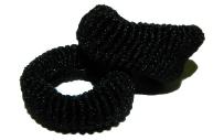Резинка черная малая 1шт, ассорти