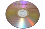 Диски DVD-R (минус) VERBATIM 4, 7Gb 16x 50шт Cake Box