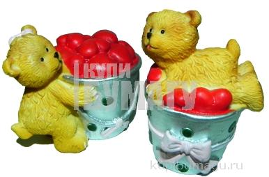 "Сувенир-полистоун LY 0159-B ""Мишки"", 5, 5см, 4 асс /24 /0 /432"