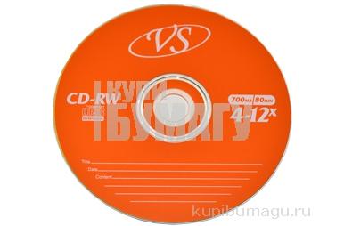 Диски CD-RW VS 700Mb 4-12х 50шт Bulk