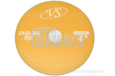 Диски DVD-RW VS 4, 7Gb Bulk