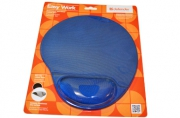 Коврик для мыши DEFENDER Easy Work, полиуретан+покрытие лайкра, 260х225х5мм, синий, 50916