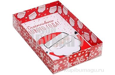 Коробка для кондитерских изделий «Счастливого Нового Года!», 17 ? 12 ? 3 см 5139832