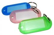 Бирка для ключей YIWU пластик., полупрозр., скруглен. углы, ассорти