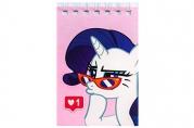 Блокнот А7, 32 листа на гребне, «Рарити», My Little Pony