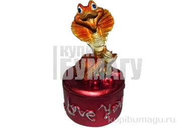 "Шкатулка-полистоун YW-Y12051 ""Змея с любовью"", 10, 5х5 см /4 /0 /96"