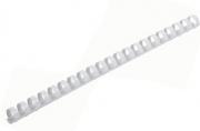 Пружины пласт. д/переплета ОФИСМАГ,  12 мм (для сшивания 56-80л), белые, 530814
