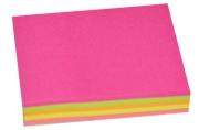 Блок с липким краем, 100 листов, 5 цветов, флуоресцентный, МИКС