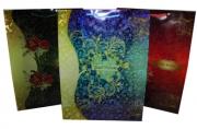 Пакет подар. пластик 1574-3, Узоры, 39х29х10см, 4 асс /12 /0/480