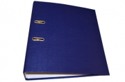Папка-регистратор 70 мм, hatber, бумвинил, синяя