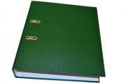 Папка-регистратор 70 мм, hatber, бумвинил, зеленая