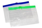 Папка-конверт на молнии А7+, 200 мкр, прозрачная молния, 8. 5х13 см