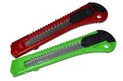 Нож канцелярский с лезвием 18 мм, с фиксатором, МИКС