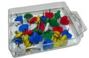 Кнопки силовые 10256 с сердечком, цветные, пластик, 35шт J. Otten /24 /0 /480