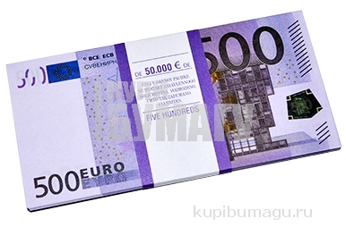 """Деньги шуточные """"500 евро"""", упаковка с ероподвесом, ш/к 72458"""