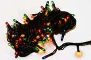 НГ Электрогирлянда светодиодная УЛЬТРА ЯРКАЯ, 100 ламп, 4, 5 м, многоцветная, с контроллером, 59601