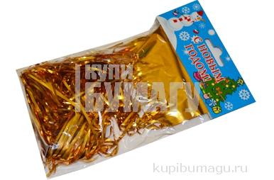 НГ Дождик новогодний, ширина 100мм, длина 1, 5м, ассорти (серебро, золото, красный, синий), ДН-100
