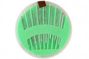 Иглы швейные в пластиковой коробочке, 24 шт, цвет МИКС