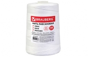 Нить лавсановая для прошивки документов, БЕЛАЯ, диаметр 1, 5 мм, длина 500 м, ЛШ 460, BRAUBERG, 601812