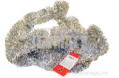 """НГ Мишура 200см МИЛЕНД """"Сверкающая елка"""" серебряная d-50мм НУ-6511"""