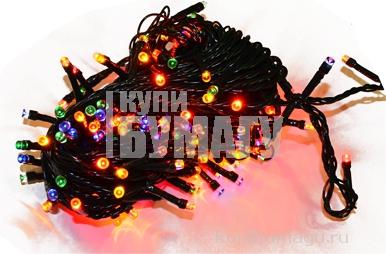"НГ Гирлянда эл. 180 ламп 14м СНОУ БУМ ""Вьюн"" мультицвет, 8режим, ПВХ провод 384-035"